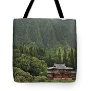 Japanese Temple Tote Bag