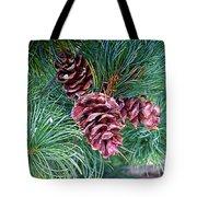 Japanese White Pine Pinecones Tote Bag