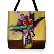 Jar With Tulips Tote Bag