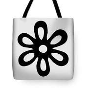Camellia - Black  Tote Bag