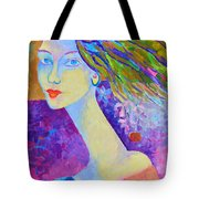 Modigliani Style Portrait Of A Woman Painting Colorful  Tote Bag