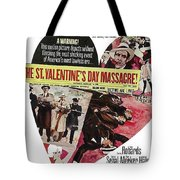 Jason Robards As Al Capone Theatrical Poster The St. Valentines Day Massacre 1967  Tote Bag