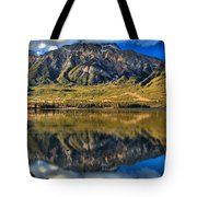 Jasper Pyramid Lake Reflections Tote Bag