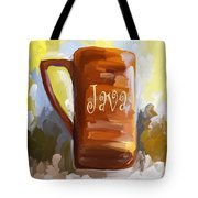 Java Coffee Cup Tote Bag by Jai Johnson