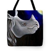 Javan Rhino Tote Bag