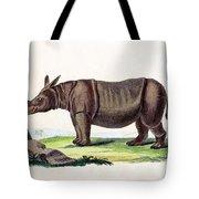 Javan Rhinoceros, Endangered Species Tote Bag