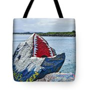 Jaws - Beach Graffiti Tote Bag