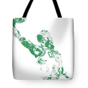 Jaylen Brown Boston Celtics Pixel Art 11 Tote Bag