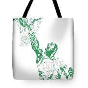 Jaylen Brown Boston Celtics Pixel Art 12 Tote Bag