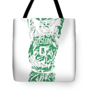 Jayson Tatum Boston Celtics Pixel Art 12 Tote Bag