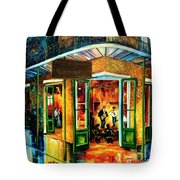 Jazz At The Maison Bourbon Tote Bag by Diane Millsap