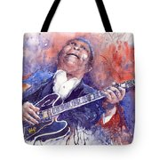 Jazz B B King 05 Red Tote Bag