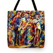 Jazz Band - Palette Knife Oil Painting On Canvas By Leonid Afremov Tote Bag