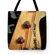 Jazz Bass Headstock Tote Bag