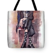 Jazz Bluesman John Lee Hooker Tote Bag
