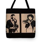 Jazz Jammin Brothers Tote Bag