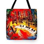 Jazz City Tote Bag