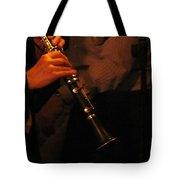 Jazz Clarinet Profile Tote Bag