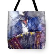 Jazz Concertina Player Tote Bag