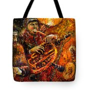 Jazz Gold Jazz Tote Bag