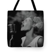 Jazz Great Billie Holiday Tote Bag
