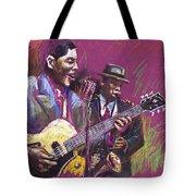 Jazz Guitarist Duet Tote Bag