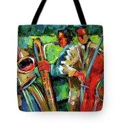Jazz In The Garden Tote Bag