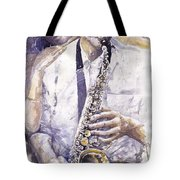 Jazz Muza Saxophon Tote Bag
