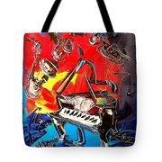 Jazz Piano Tote Bag