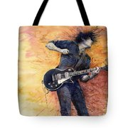 Jazz Rock Guitarist Stone Temple Pilots Tote Bag by Yuriy  Shevchuk