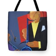 Jazz Sharp Tote Bag by Kaaria Mucherera
