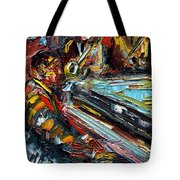 Jazz Tunes Tote Bag