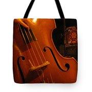 Jazz Upright Bass Tote Bag