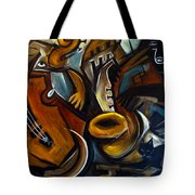 Black Cat Jazzz Tote Bag