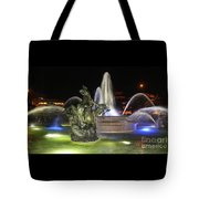 J.c. Nichols Fountain-4981 Tote Bag