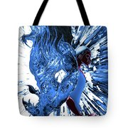 Jd And Leo- Inverted Ice Blue Tote Bag