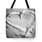 Winter Heart Tote Bag