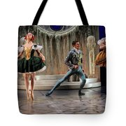 Jealous Stepsister Ballerinas En Pointe With Guests At The Ball  Tote Bag