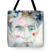 Jean Cocteau - Watercolor Portrait.2 Tote Bag