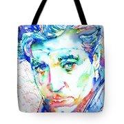 Jean Gabin - Colored Pens Portrait Tote Bag
