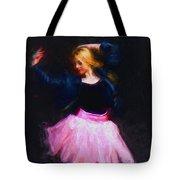 Jean Jacket Ballerina Tote Bag