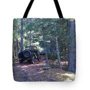 Jeep At Tin Camp Tote Bag