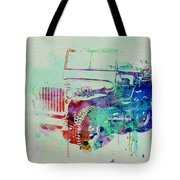 Jeep Willis Tote Bag by Naxart Studio