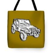 Jeep Wrangler Rubicon Illustration Tote Bag