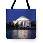 Jefferson Memorial Dusk Tote Bag