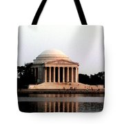 Jefferson Monument After Sunset Tote Bag