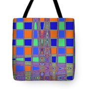 Jelly Fish On The Beach Abstract Tote Bag