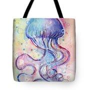 Jelly Fish Watercolor Tote Bag