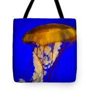 Jellyfish In Blue Waters Tote Bag