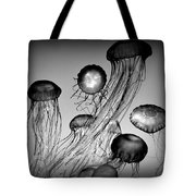 Jellyfish In Monochrome Tote Bag